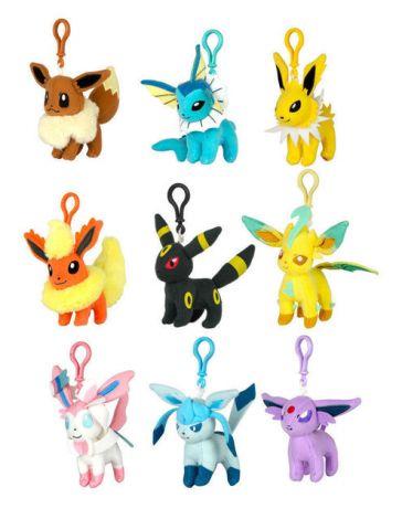 Pokémon Keychain Portachiavi Peluche Eevolutions