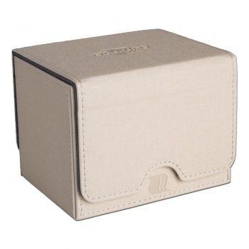 BLACKFIRE Convertible Premium Deck Box Single Horizontal 100+ Standard Size Cards - Bianco