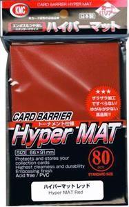 KMC Card Barrier Sleeves Standard Size Hyper Mat Red (80)