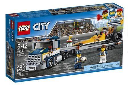 LEGO City 5-12 60151 Trasportatore di Dragster