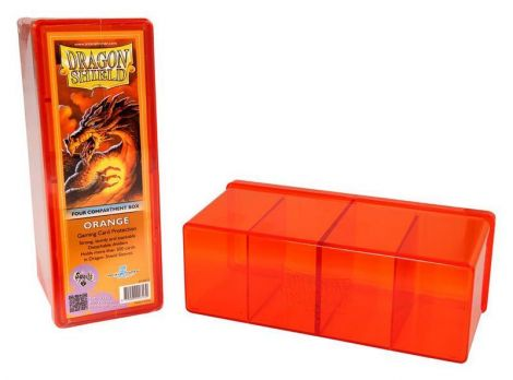 Dragon Shield Four Compartment Orange Box