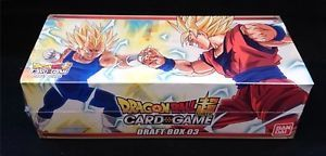 Dragon Ball Super Card Game Draft Box 03 (12 Buste B04 + 12 TB02 + 4 Carte Leader + Busta Torneo)