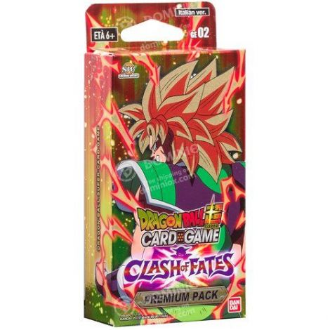 Dragon Ball Super Card Game TB3 Clash of Fates Premium Pack IT (3 Buste + 8 Carte Promo)